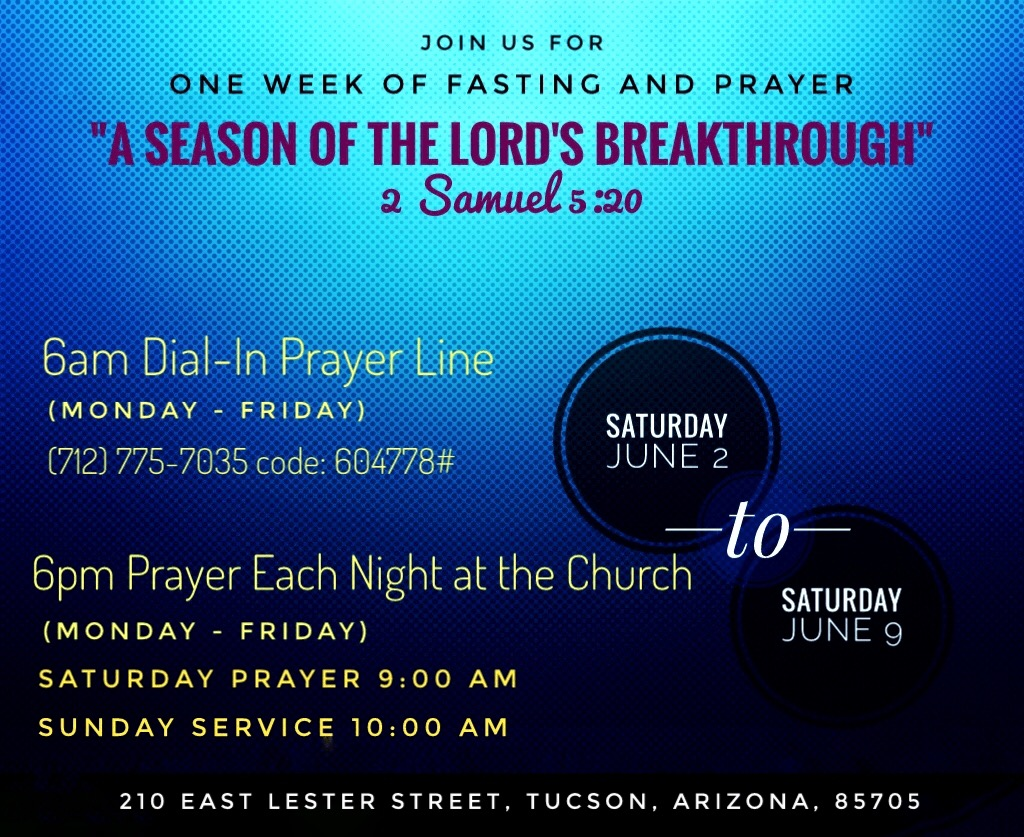 June 2018 Prayer And Fasting 6pm Mon Fri 9am Sat Breaking